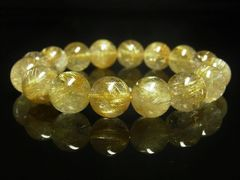夢を叶えるサポート タイチンルチルブレスレット 12ミリ数珠パワーストーン
