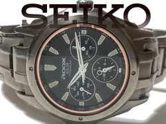 極レア 1スタ★SEIKO ALBA【ソーラー】チタン製 メンズ腕時計