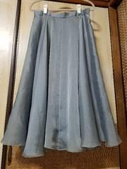 中古☆社交ダンス衣装・フレアスカート☆13号表記・シルバーグレー