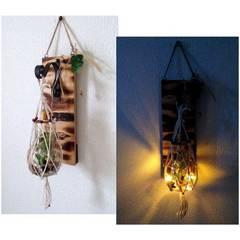 ハンドメイド◆ビンテージ風★バルブボトル 壁飾り LEDライト