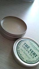 ロクシタン ガーデンソリッドパフューム 練り香水 グリーンティ