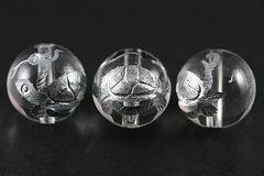 四神獣☆銀塗り玄武☆水晶12mmビーズ 1個