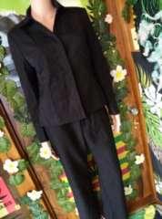 13AR*冠婚葬祭!ブラックフォーマル†ベーシックパンツスーツ