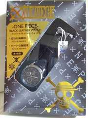 One piece  ブラック レザーウオッチ ハートの海賊団ブラウン