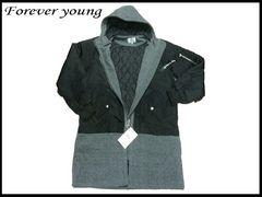 新 Forever young のフード付ロングジャケット XL