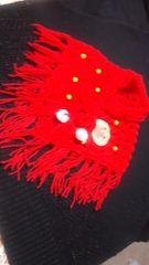 【\500送込処分セール】U6ヶ月〜1才用〓手編み三角ストール