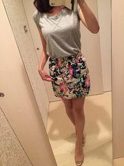 マーキュリー☆花柄ミニスカート☆新品同様