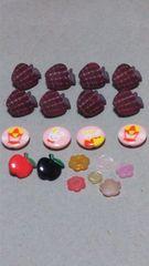 まとめ売り 可愛いボタン(20ヶ)りんご・花・うさぎ