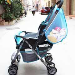 送料無料収納バッグベビーカー用大口収納Babycar-bag04-BL