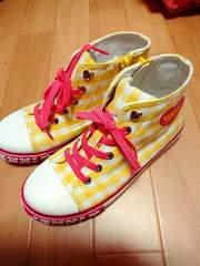 SISTER JENNI☆ハイカット 靴 ギンガムチェック