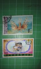 タンザニア切手2枚♪