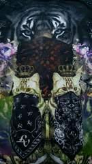 虎&猫ギャング テロテロ半袖Tシャツ  サイズL アメリカ ネコ タイガー