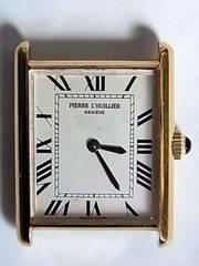 ピエール ルイエ腕時計手巻き2針スイス製タンクデザイン稼働