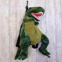 リュック♪PLUSH BACK PACK 恐竜 ティラノサウルス グリーン