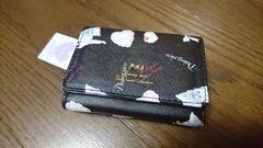 ¥2800新品☆猫ねこネコにゃんこ×ハート/三つ折りがま口財布
