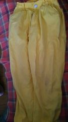 ムージョンジョン★黄色。シンプルパンツ size105-115