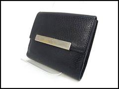 GUCCI グッチ 型押しレザー Wホック 二つ折り財布 035 0416 黒