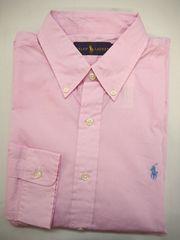 ラルフローレン 長袖ボタンダウン ドレスシャツ 16(41) ピンク