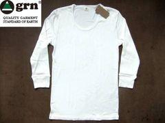 grn(ジーアールエヌ)無地 7分袖 Tシャツ S ナチュラル