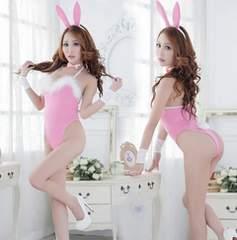 ★1スタ★コスプレ衣装★セクシー バニーガール 3点セット ピンク