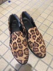 index レオパード柄 ぺったん靴
