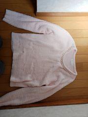 ピンクのセーター【Lサイズ】
