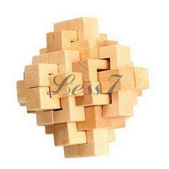 木製立体パズル 木製 知恵の輪/パズルおもちゃ/31