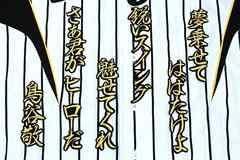 阪神 刺繍 ワッペン 鳥谷 行金 応援歌 ユニフォームに
