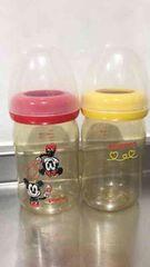Disneyピジョン160ml哺乳瓶2本セットプラスチック持ち運び軽い