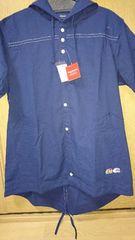 ドラッグストアーズタグ付きパーカーシャツネイビー7900円+税3サイズ