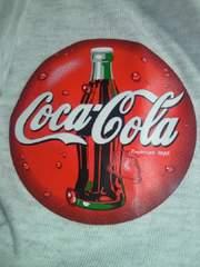 コカ・コーラ コカコーラ ワンポイント ロゴ プリント デザイン Tシャツ ホワイト Lサイズ