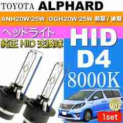 アルファード D4C D4S D4R HIDバルブ 8000Kバーナー2本 as60558K