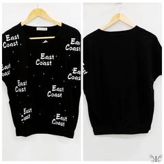 728-303287大きいサイズ☆スタッズ付ドルマンTシャツ☆ブラック