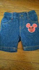 Mickey★デニムハーフパンツ★size80