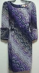 ミニマムMINIMUM紫ドット柄フリルシフォンワンピース美品