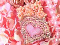 【新品】デコ小物ケースD アクセ入れ サプリ入れ 薔薇