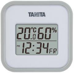タニタ デジタル温湿度計 マグネット付 グレー