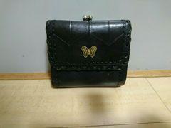 レザー【アナスイ】3つ折りガマ口財布