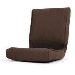 座椅子 コンパクト折りたたみ ブラウン