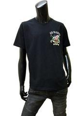 Ed Hardy(エドハーディー)ラブキル刺繍Tシャツ 黒 XL [92kh02]