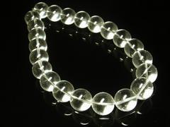 万能パワーストーン 本水晶クリスタルネックレス 天然石20ミリ数珠