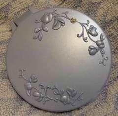 ファンケル◆キラキラストーン付エレガントなお花装飾ミラー手鏡