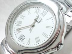 6528/ダンヒルdunhillミレニアムホワイトカラーダイヤル定価20万円位メンズ腕時計