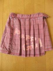 Papp Girl★チェック スカート ピンク 100