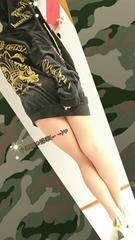 メンズLL/RERIZZOBrand背中迫力ユリの紋章zipフ-ド光沢ベロアジャケット黒金