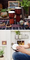 スモールジャンベ★アジアン雑貨/子供のおもちゃ/インテリア/打楽器/太鼓/タイコ