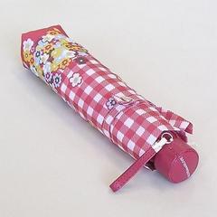 オリーブデオリーブUV加工花柄チェック折りたたみ傘