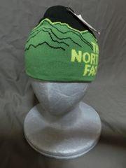 ノースフェイス★NORTH FACE★リバーシブルType 山脈柄ニットCAP