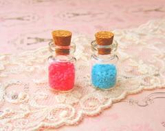 蓄光パーツ小さめ粒ピンク&ブルー