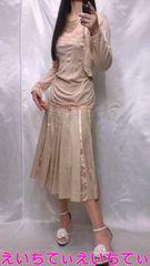 大きいサイズ*ベージュ系コーデ アンサンブル×スカート〜�B点セットアップ♪美品♪L